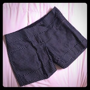 The Limited Navy and White Polka Dot Shorts